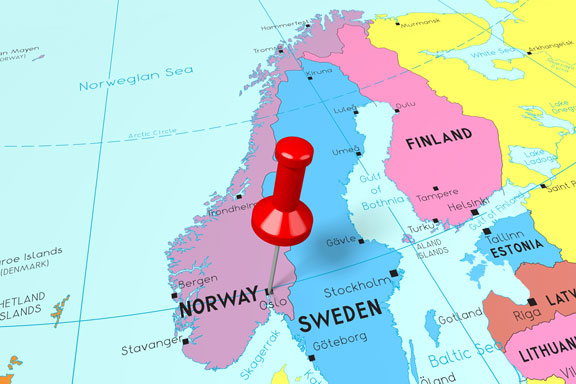 location of Oslo, capital of Norway